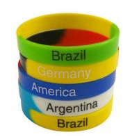 Wholesale Green Yellow Blue Fashion Personalized Silicone Bracelets Charming Durable from china suppliers