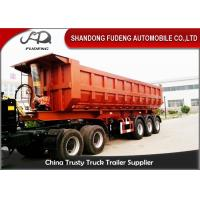 Wholesale Three Axles Rear Dump Semi Trailers , Hydraulic Tipping Tractor Trailer from china suppliers