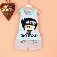 China vest virgin suit summer cartoon small baby's clothes 1 year old baby clothes suit on sale
