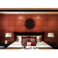 Buy cheap Red Plaids Bronzing Contemporary Wall Coverings Home Decorating Wallpaper from wholesalers