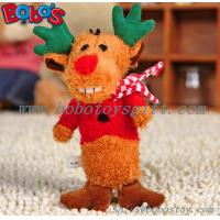Wholesale Soft Plush Christmas Deer Animal Pet Toy For dog and Cat from china suppliers
