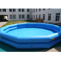 Wholesale Blue Interesting Inflatable Water Pool , Water Sports Gaint Inflatable Swimming Pools from china suppliers