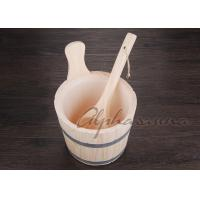 Wholesale Nordic Spruce White Pine Sauna bucket With Matel Belt and ladles from china suppliers