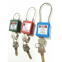 Quality ZC-G31 Safety Steel Cable Shackle Padlocks, Short Shackle locks with 8 colors for sale