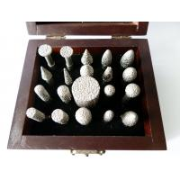 Wholesale 20pcs/set Diamond Mounted Points With Wooden Box For Carving / Sanding from china suppliers