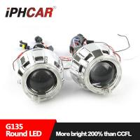 Wholesale IPHCAR Led Projector Lens Light Angel Eyes High and Low Beam Projector Lens Lamp from china suppliers