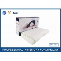 Wholesale High Concave Side Sleeper Memory Foam Pillow with Jacquard Tencel Pillow case , Color Box from china suppliers