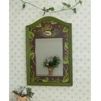 Quality Decorative bathroom wooden wall Mirror for sale