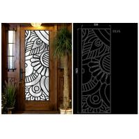 Buy cheap Rustic Elegance  Wrought Iron Door Glass Agon Filled With Silk Screening 22*64 Inch from wholesalers