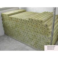 Wholesale Rigid Rockwool Pipe Insulation , Rockwool Pipe Section 22 - 529 mm Dia from china suppliers