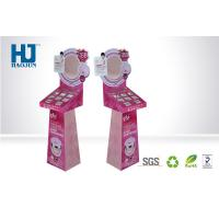 Wholesale Fashionable PINK Cosmetic Display Stand Corrugated Display Shelf for Makeup from china suppliers