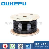 Buy cheap polyesterimide polyimide varnish enameled coating flat copper wire from wholesalers