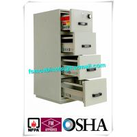 Wholesale UL Vertical Metal Fire Resistant Filing Cabinets Fireproof 4 Drawers For Storing Documents from china suppliers