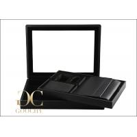 Carbon Leather Watch Storage Box with spraying velvet , 2 Removable Trays