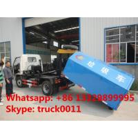 Wholesale 2017s new Dongfeng 95hp 5cubic small hook arm garbage truck for sale,best price CLW brand hook lift garbage truck from china suppliers