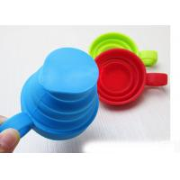 Wholesale 6 Oz Travel Camping Mug Silicone Folding Cup Of Silicone Handle , Laser Engraved from china suppliers