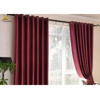 Wholesale Washable Red Polyester Jacquard Window Curtains For Bedroom Shrink Resistant from china suppliers