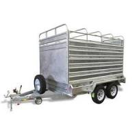 Wholesale Galvanized Stock Crate 9x5 Tandem Trailer With Cage For Cattle Transport from china suppliers
