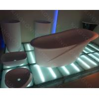 Wholesale solid surface floor stand bathbub from china suppliers