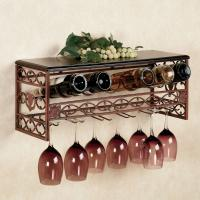 Wholesale Metal Wine and Stemware Wall Rack from china suppliers