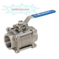 Wholesale 3PC Full Port NPT Threaded SS Ball Valve , CF8 NPT Ball Valve 1000 WOG Pressure from china suppliers