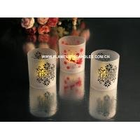 Wholesale Battery Operated LED Frosted Flickering Votive Candles Cup Shape Amber or Color Changing from china suppliers
