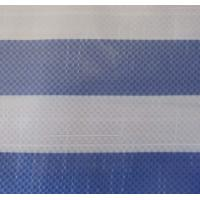 blue/white striped pe tarpaulin, 165gsm virgin material
