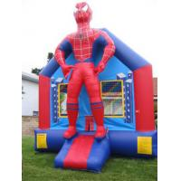 Wholesale Commercial Custom Inflatable Spiderman Bounce House Hand Printing Slide / Basketball Hoop from china suppliers