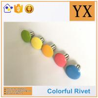 Quality High Quality Hollow rivets for stationery Colorful metal fastener rivets for sale