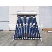 Wholesale Compact Pressure Stainless Steel 304 - 2B Heat Pipe Solar Water Heater With 15 Tubes Frame from china suppliers