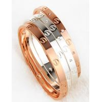 Buy cheap Hotsales! Love Bracelet trendy copper alloy bangles concave-convex joint funmijewelry#foxmail#com gold silver rose gold from wholesalers