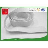 Wholesale White Elastic Hook And Loop Straps With 100% Nylon Material No Pollution from china suppliers