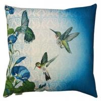 Wholesale Hummingbirds Contemporary Throw Pillows / Outdoor Bench Pillow Blue Edge from china suppliers