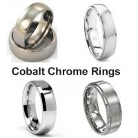 Wholesale Tagor Jewelry Made Customize Plain Shiny Brushed Wedding Engagement Cobalt Chrome Rings from china suppliers