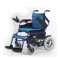 Wholesale 250W Motor Lightweight Folding Electric Wheelchair , Foldable Power Wheelchair from china suppliers