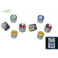 Wholesale Chrome Plastic Car Tire Valve Caps with OEM Logo 4 PCS / Set from china suppliers
