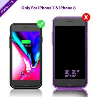 Quality Protection Lighting Interface Charging Phone Cases , External Battery Case Capacity3000mah for sale