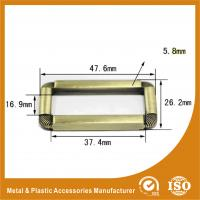 Wholesale Buckle Inner 37.4MM Antique Brass Classic Adjustable Square buckle For Handbags Or Suitcase from china suppliers