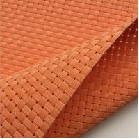 Wholesale Textilene® outdoor furniture Weave mesh UV fabric 8X8 wires woven orange color from china suppliers