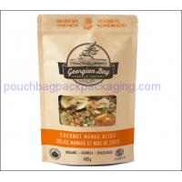 Wholesale Brown kraft paper bag, stand up pouch with zipper resealable for food from china suppliers