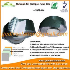 Wholesale Aluminum foil fiberglass mesh tape pipeline insulation foil tape from china suppliers