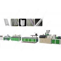 China Conical Twin Screw PVC Profile Extrusion Line , Stainless Steel Plastic Corner Production Machine on sale