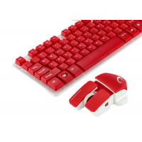Wholesale Red Color Multimedia Wireless Keyboard And Mouse Combo No Lighting Mode from china suppliers