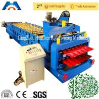 Wholesale Glazed Roof Tile Double Layer Roll Forming Machine Width 1200mm / 1220mm from china suppliers