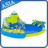 China Inflatable Amusement Park , Giant Inflatable Water Park , Swimming Pool Park Equipment on sale