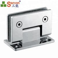 Wholesale SS316 Glass Shower Door Hinges 90 Degree Wall To Glass Double Side Bathroom Clamp from china suppliers