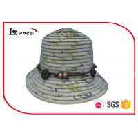 Wholesale Fresh Color Wide Brimmed Large Straw Hats , Nylon Rope Sun Protection Hats from china suppliers