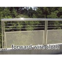 304 316 316L 409 Perforated Metal Mesh Customized Round / Square / Rectangular Hole