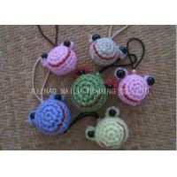 Wholesale Simple Crochet Christmas Ornaments Crochet Frog Head Shape For Key Chains from china suppliers