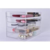 Wholesale acrylic perspex makeup box with drawer from china suppliers